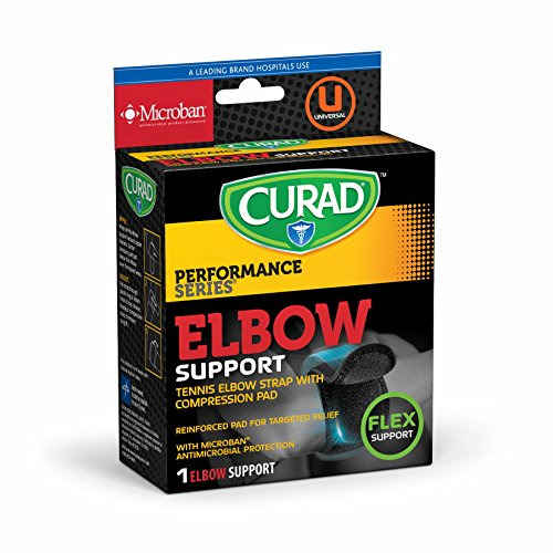 Curad Deluxe Tennis Elbow Straps with Microban, Universal - Universal Tennis Elbow Neoprene Strap
