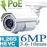 USG 5MP @ 30FPS H.265 IP Bullet Security Camera With Audio 25921944, 6MP 3.6-10mm Vari-Focal Lens, Sony DSP, PoE, 72x IR LEDs, Vandal & Weatherproof, ONVIF 2.4 View On Phone, Computer + NVR
