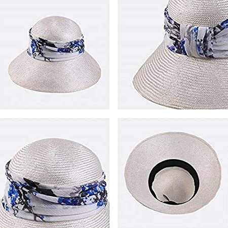 color : C Plant Fiber Cap Female Summer Seaside Beach Visor Foldable Printing Decorative Cap Casual Shopping Straw Hat