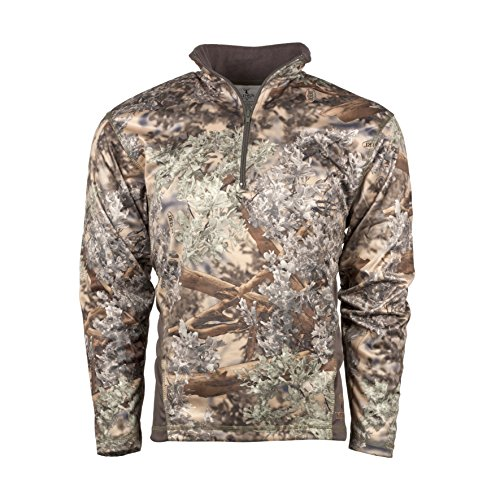 King's Camo Men's KC1 1/4 Zip Pullover, Desert Shadow, XL - 1/4 Zip Fleece Sweatshirt