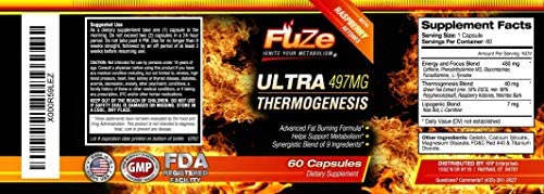 FUZE Thermogenic Ultra Keto Fat Burner Weight Loss Diet Pills and Supplement Will Ignite Your Metabolism, Ramp Up Your Energy and Melt Stubborn Fat Fast! 5