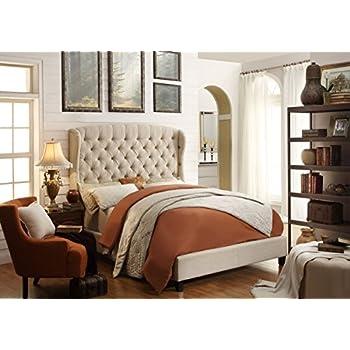 Amazon Com Skyline Furniture Velvet Queen Tufted Wingback