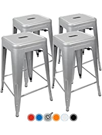 24 counter height bar stools silver by urbanmod set of. Interior Design Ideas. Home Design Ideas