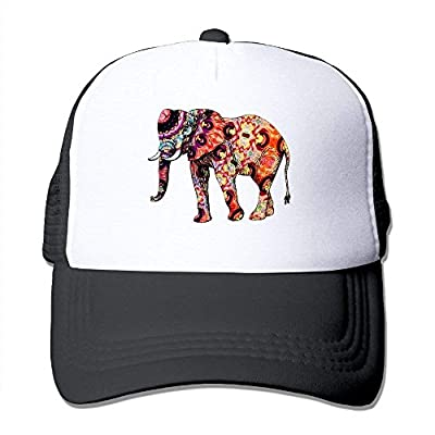Tribe Elephant Adjustable Snapback Baseball Cap Mesh Trucker Hat by cxms