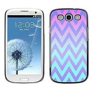 PC/Aluminum Funda Carcasa protectora para Samsung Galaxy S3 I9300 Pink Teal Lines Pattern / JUSTGO PHONE PROTECTOR