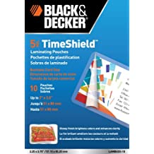 Black and Decker TimeShield Thermal Laminating Pouches, Business Card, 5 mil - 10 Pack (LAMBUS5-10)