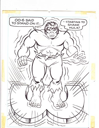 Hulk Interior Page from 1970's ? Coloring Book ? Really Nice Hulk Image