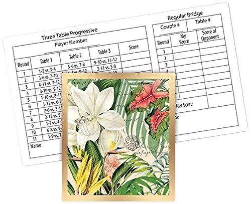 Michel Design Works 12-Count Bridge Score Card Tallies, Vanilla Palm