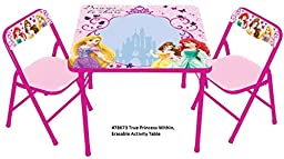 Disney True Princess within Erasable Activity Table Set with 3 Markers
