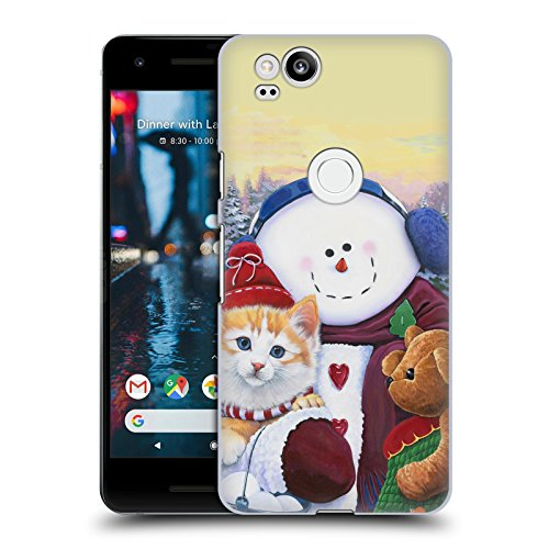 Official Christmas Mix Jenny Newland Winter Wonder Pals Pets Hard Back Case for Google Pixel 2
