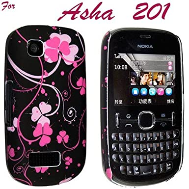 new arrivals dc17f 63dec FOR NOKIA ASHA 200 201 FLOWER PRINT HARD BACK PROTECTION CASE COVER ...