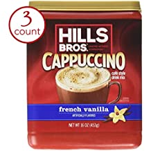 Hills Bros French Vanilla Cappuccino Drink Mix 1LB 3-pack by Hills Bros