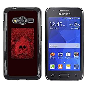 iKiki Tech / Estuche rígido - Animal Minimalist Abstract Red - Samsung Galaxy Ace 4 G313 SM-G313F