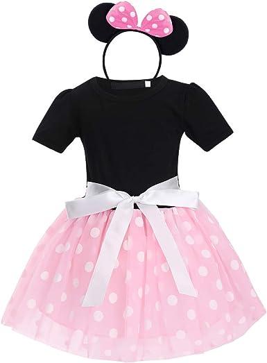 Kids Toddler Baby Girls Polka Dot Tutu Dress Party Costume Princess Strap Dress