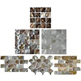 Art3d Mother of Pearl Mosaic Tiles for Spas / Pools / Bathroom Walls / Kitchen Backsplashes Tiles 6 Samples