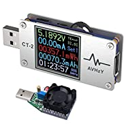 AVHzY USB Power Meter Tester Digital Multimeter USB Load Current Tester Voltage Detector DC 26.0000V 6.0000A Test Speed of Charger Cables Capacity of Power Bank PD 2.0/3.0 QC 2.0/3.0/4.0 or pps Trigge