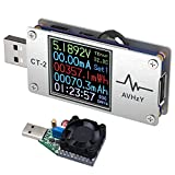 AVHzY USB Power Meter Tester Digital Multimeter USB Load Current Tester Voltage Detector DC 26.0000V 6.0000A Test Speed of Charger Cables PD 2.0/3.0 QC 2.0/3.0/4.0 or pps Trigge (CT-2)