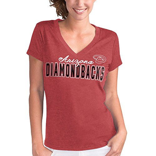 - Arizona Diamondbacks Women's Red Home Run V-Neck T-shirt X-Small