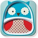 Skip Hop Baby Zoo Little Kid and Toddler Melamine Feeding Divided Plate, Multi Otis Owl