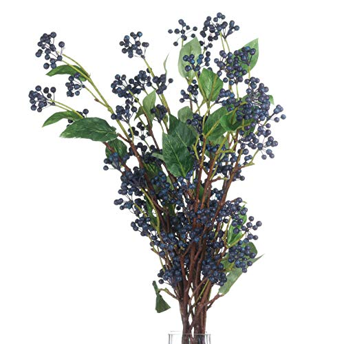 Hill Interiors Artificial Faux Viburnum Berry Spray (31.5in) (Blue/Green/Brown)