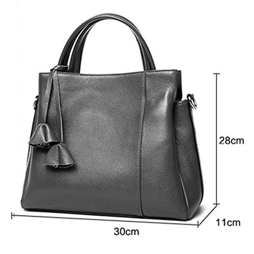 ZCJB Große Frauen Handtaschen Handtaschen Handgepäck Ross-Körper Taschen Schultertaschen Messenger Bags Für Frauen ( Farbe : Schwarz ) Schwarz