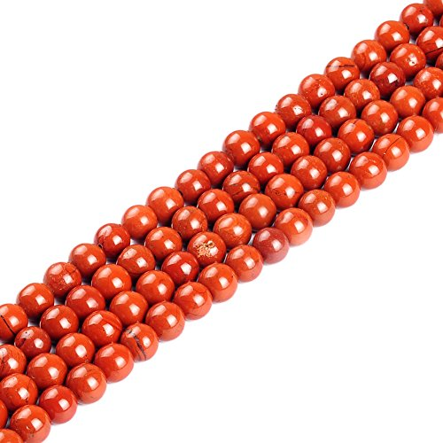 (Natural Stone Beads 2mm Red Jasper Gemstone Round Loose Beads Crystal Energy Stone Healing Power for Jewelry Making DIY,1 Strand 15