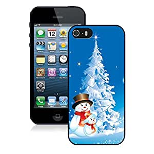 Iphone 5S Case,Snowmans With Snow Christmas Tree Apple Iphone 5 5S Protective TPU Case