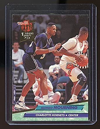 1992 93 Ultra 193 Alonzo Mourning Charlotte Hornets Rookie