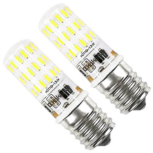 E17 LED Bulb Dimmable Kakanuo 4 Watt Daylight White 6000K Intermediate Base under Microwave Bulb 43X4014SMD AC110-130V (Pack of 2)