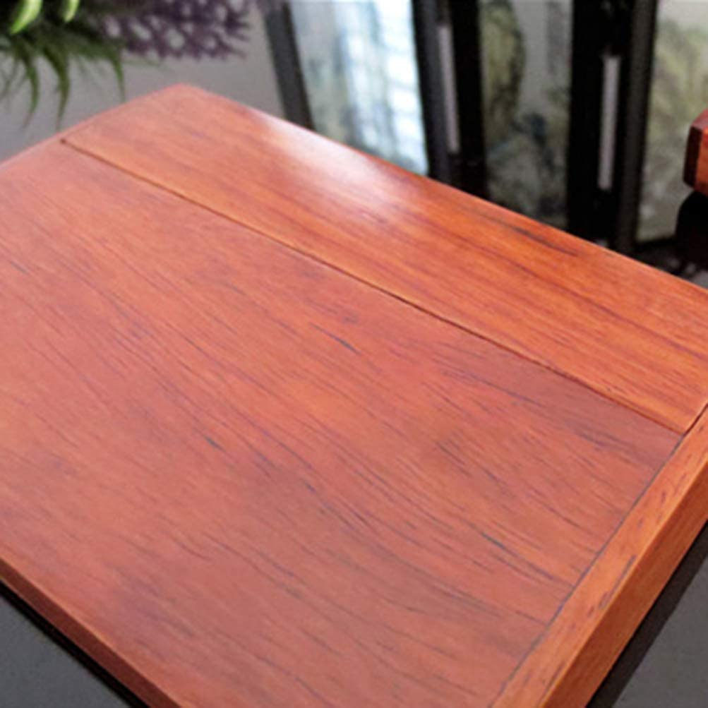 restaurante oficina tarjetas de cr/édito caja de almacenamiento para casa tarjetas de negocios patr/ón aleatorio DOITOOL Soporte de madera para tarjetas de visita para escritorio