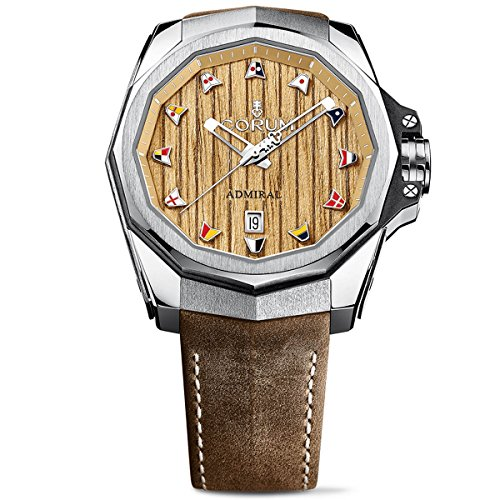 Corum Men's Admiral AC-ONE 45 45mm Brown Leather Band Titanium Case Automatic Watch 082.500.04/0F62 AW01