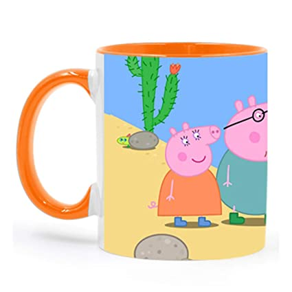 Buy Peppa Pig Cartoon Orange Coffee Mug For Friends Birthday Gifts Kids Return By Impresion IMPMUG 2319 Online At Low Prices In India