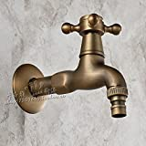 LINA@ Antique washing machine faucet the faucet copper continental long MOP pool 4 cold wall
