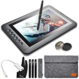 Parblo Mast10 10.1 Graphic Drawing Monitor with 6 Shortcut Keys and Battery-Free Pen Passive Stylus + Mini DisplayPort to HDMI Adapter for Mac
