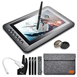 Parblo Mast10 10.1' Graphic Drawing Monitor with 6 Shortcut Keys and Battery-free Pen Passive Stylus + Mini DisplayPort to HDMI Adapter for Mac