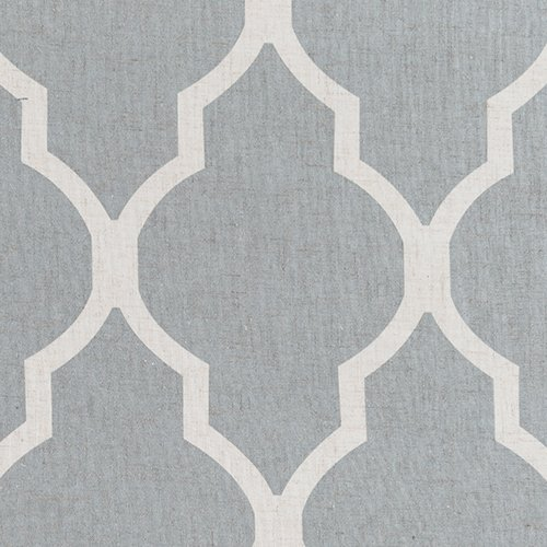 Moroccan Tile Printed Linen Curtains 95 inch Long for Bedroom Curtain Living Room Window Drapes - Lattice Grommet Top - Set of Two, Quatrefoil Grey Curtain Panels - bedroomdesign.us