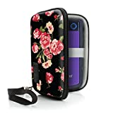 USA Gear External Portable Hard Drive Carrying Case for Western Digital My Passport , Seagate Expansion / Backup , Toshiba Canvio , Transcend StoreJet , Silicon Power Rugged Armor & More - Floral