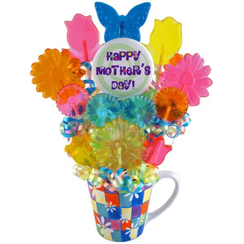 Mother's Day Candy Flowers Lollipop Bouquet