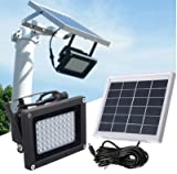 54 LED Solar Power Dusk-to-Dawn Sensor Lights Outdoor Garden...