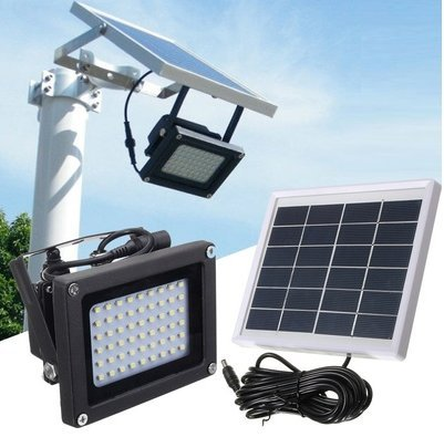 amazon com 54 led solar power dusk to dawn sensor lights outdoor
