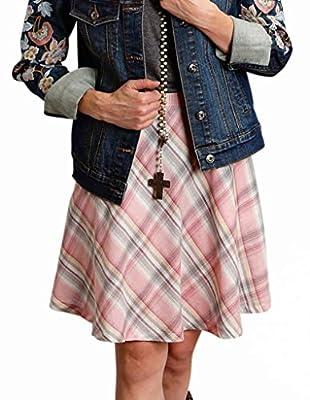 Stetson Womens 1592 Pink Plaid Circle Skirt