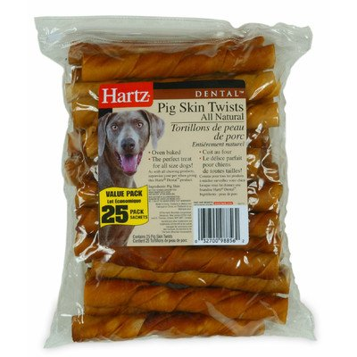 HARTZ Oinkies Pig Skin Twist for Dog from Hartz