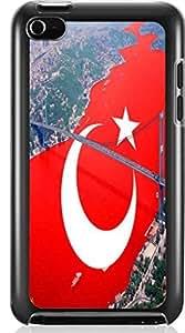 Turkish flag Hard Case for Apple iPod touch 4 4G 4TH ( Sugar Skull ) Kimberly Kurzendoerfer