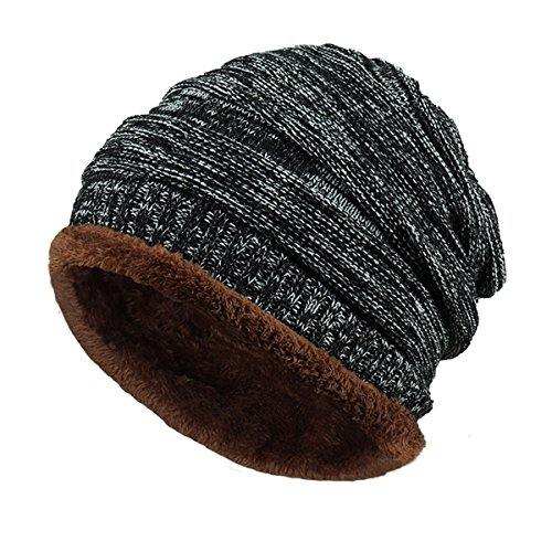 Wear Us Army Beret (Onway Winter Warm Hat Beanie Hat For Men Lined Thick Knit Slouchy Thick Skull Cap)