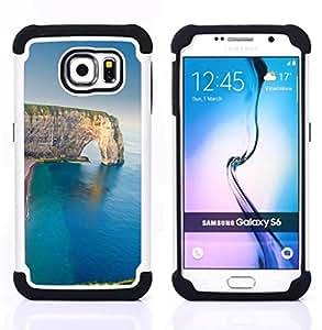 - cliff sea summer nature geology/ H??brido 3in1 Deluxe Impreso duro Soft Alto Impacto caja de la armadura Defender - SHIMIN CAO - For Samsung Galaxy S6 G9200