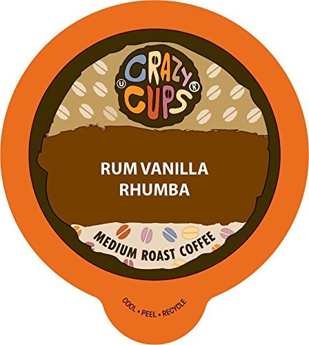 Crazy Cups Flavored Coffee, for the Keurig K Cups 2.0 Brewers, Rum Vanilla Rhumba, 22 Count