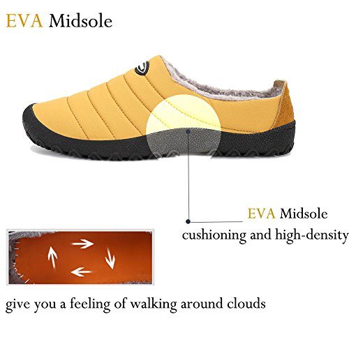 Lined House Outdoor Camel Winter Non on Women Slip Men with Plush Soft Indoor Sole Slip Shoes Slippers W1RwTSXp