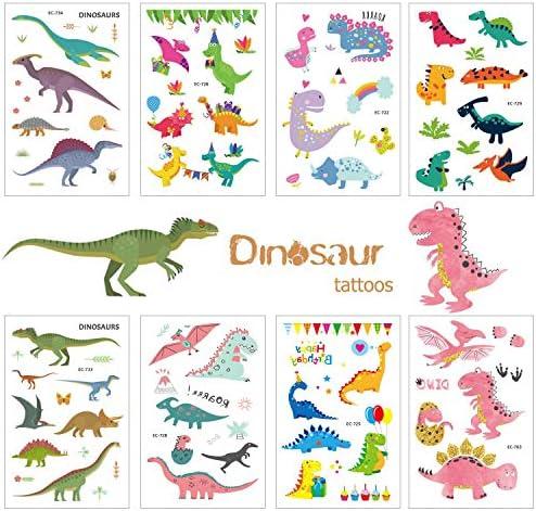 /Étanche Dinosaure Tatouages eph/ém/ères Enfants HOWAF 96pcs Tatouage Dinosaure Enfant Enfants gar/çon Tatouages temporaires Dinosaure Anniversaire denfant Tatouage gar/çon Cadeau Pinata