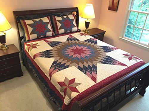 Elegant Decor Bedding Prairie Star Patchwork California King Quilt Set
