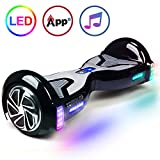 "TOMOLOO Self-Balancing Scooter UL2272 Certified 6.5"" Wheel Hoverboard with RGB Lights Bluetooth Speaker ..."